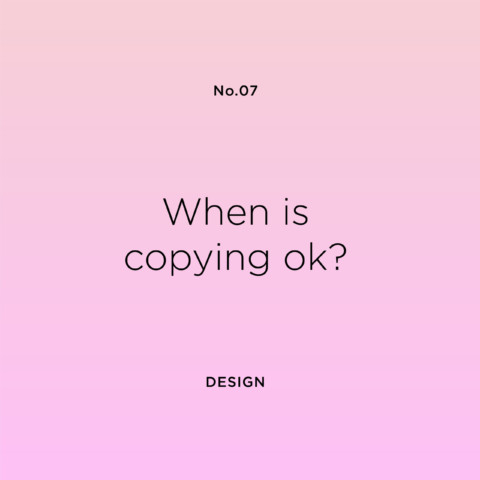 When is copying ok?